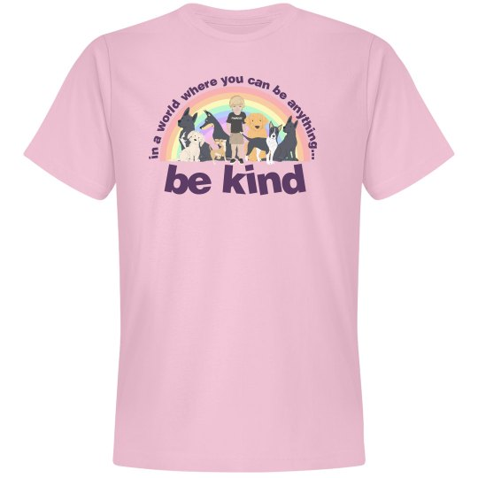 be kind unisex pink