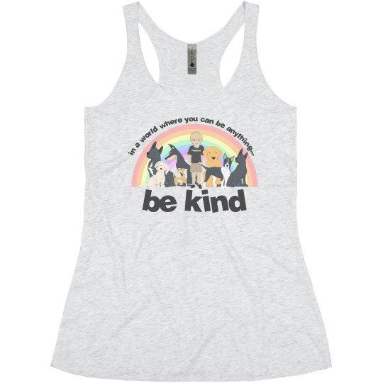 Be Kind Women Tanktop dark letter