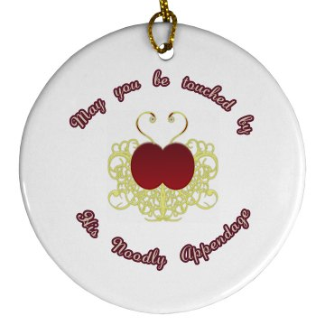 Be Touched ornament - round