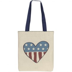 All American Heart Vintage Tote