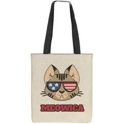 Meowica USA Cat Pun July 4th Bag