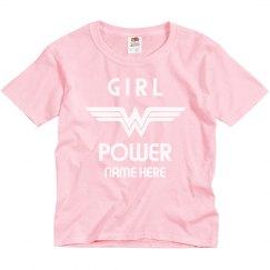 Custom Name Wonder Woman Girl Power