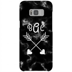 Trendy Marble Custom Initials Phone Case