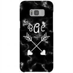 Trendy Marble Custom Initials Phone Case