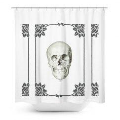 Skull Head Shower Curtain