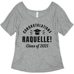 Custom Name Congratulations Graduate