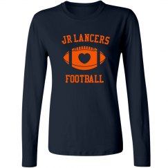 Ladies Long Sleeve Heart Football