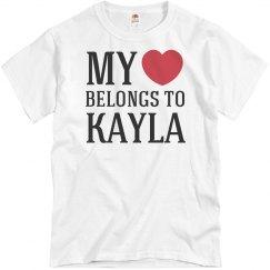 Heart belongs to Kayla