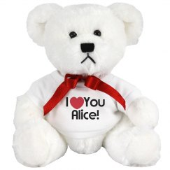 Custom I love you Teddy Bear