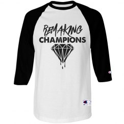 Champion Brand Remaking Champs Unisex 3/4 Tee