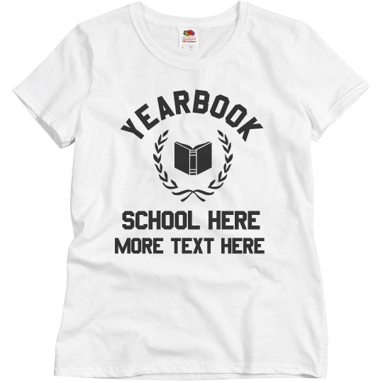 033888de Custom Yearbook Group Tees Ladies Relaxed Fit Basic Promo T-Shirt