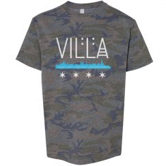 Youth Villa Chicago Skyline-Flag Vintage Camo Tee