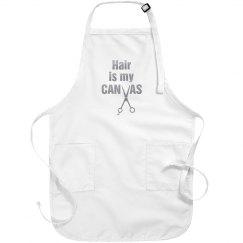 Hair is My Canvas salon apron