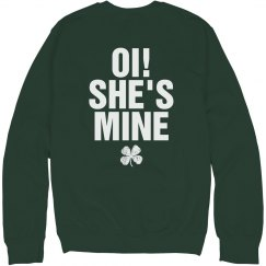 Oi She's Mine Couple Hoodies