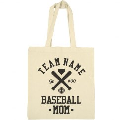 Custom Baseball Number Mom Tote