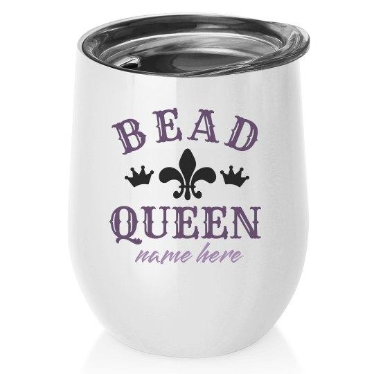 Bead Queen Mardi Gras Wine Tumbler
