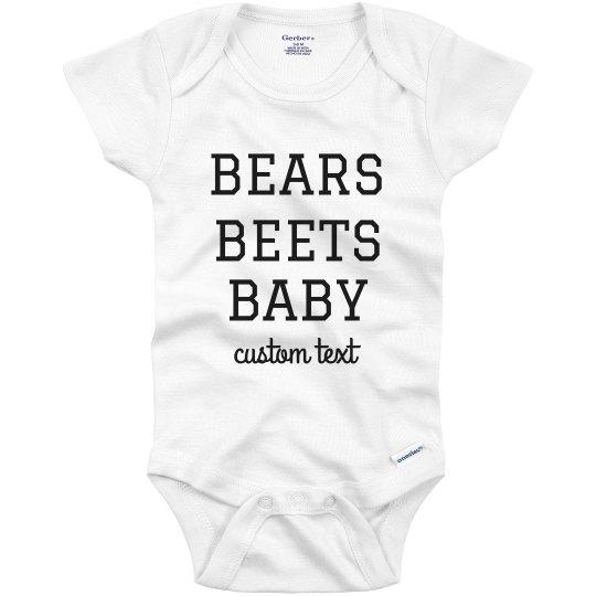 Bear Beets Baby Funny Office Custom Baby Onesie