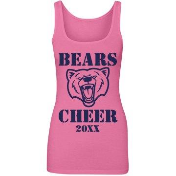 Bears Mascot Cheerleading