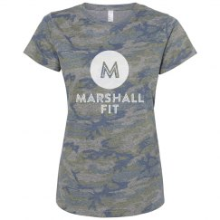 LAT Apparel - Ladies Relaxed Fit Camo T-Shirt