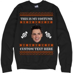 Funniest Halloween Ugly Sweater Face Cutout