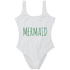 Mermaid Bathing Suit Glitter