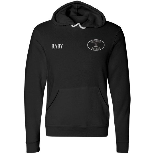 Belle fleece hoodie with name and brother name on back
