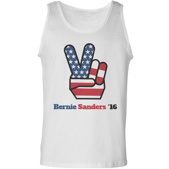 Bernie Sanders Peace Sign