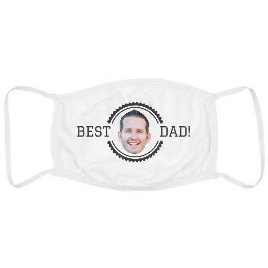 Best Dad Custom Upload Mask