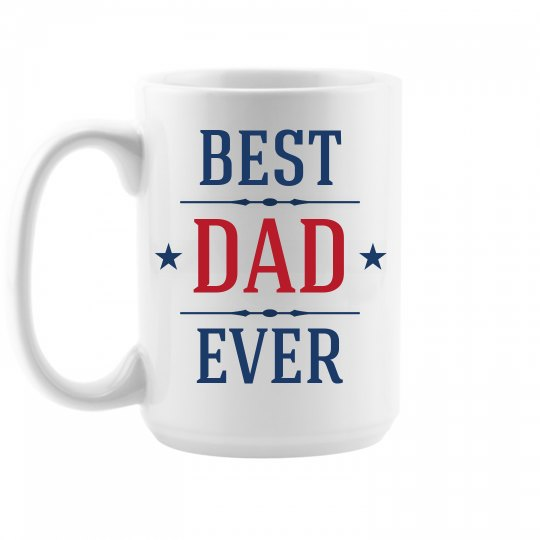 Best Dad Ever Custom Names Mug