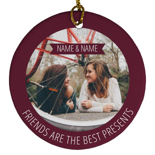 Best Friend Photo Gift Ornaments