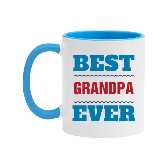 Best Grandpa Custom Name's Mug
