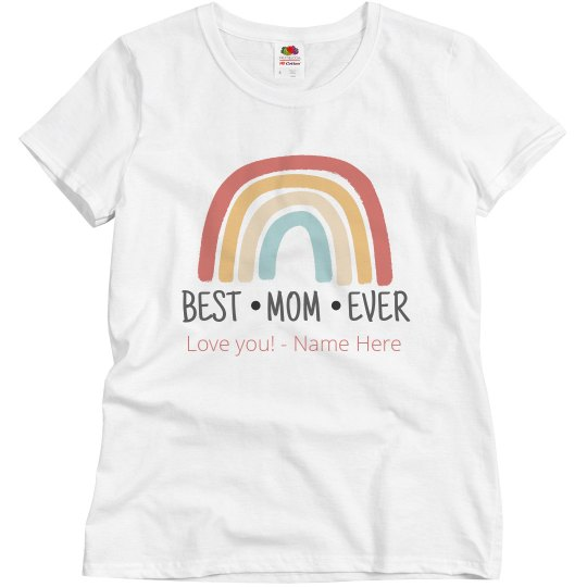 Best Mom Rainbow Tee