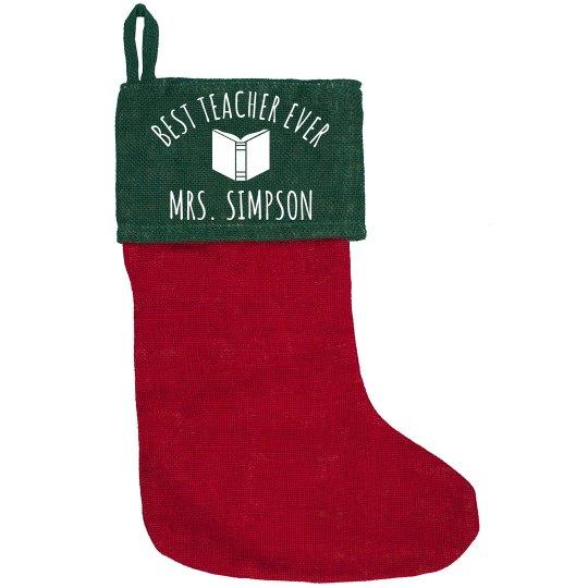 Best Teacher Custom Christmas Gift