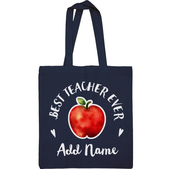 Best Teacher Ever Watercolor Custom
