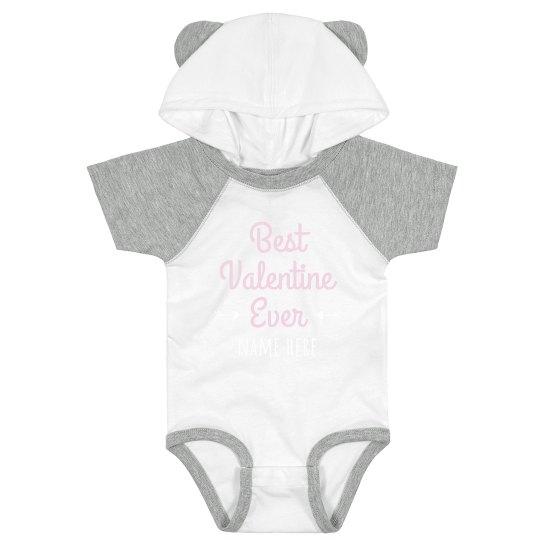 Best Valentine Hooded Onesie