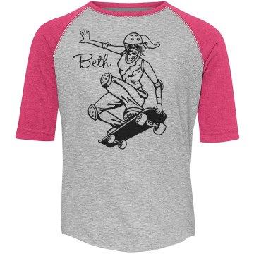Beth Loves Skateboarding