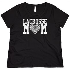 Curvy Lacrosse Mom Sports Tee