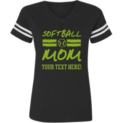 Custom Trendy Softball Mom Shirt