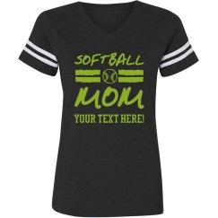 Custom Trendy Softball Mom Shirt