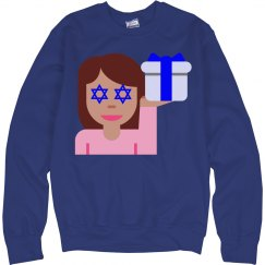 hanukkah hair flick emoji