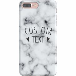 Customizable Marble Print iPhone Case