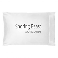 Snoring Beast Custom Matching Bedding