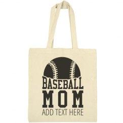 Baseball Mom Custom Tote Bag