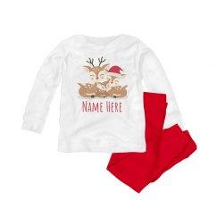 Reindeer Family Baby Pj's