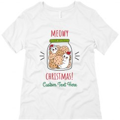 Custom Meowy Christmas Cat Tee