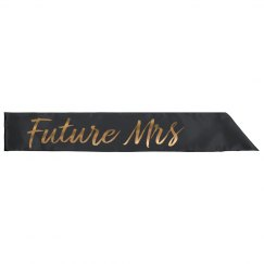 Gold Metallic Future Mrs Sash