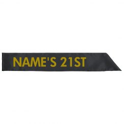 Custom Name 21st Birthday Sash