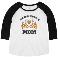 Metallic Gymnastic Mom Raglan