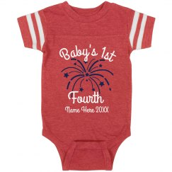 Custom Baby's First Fourth of July