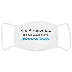 Funny Quarantine Softball Mask
